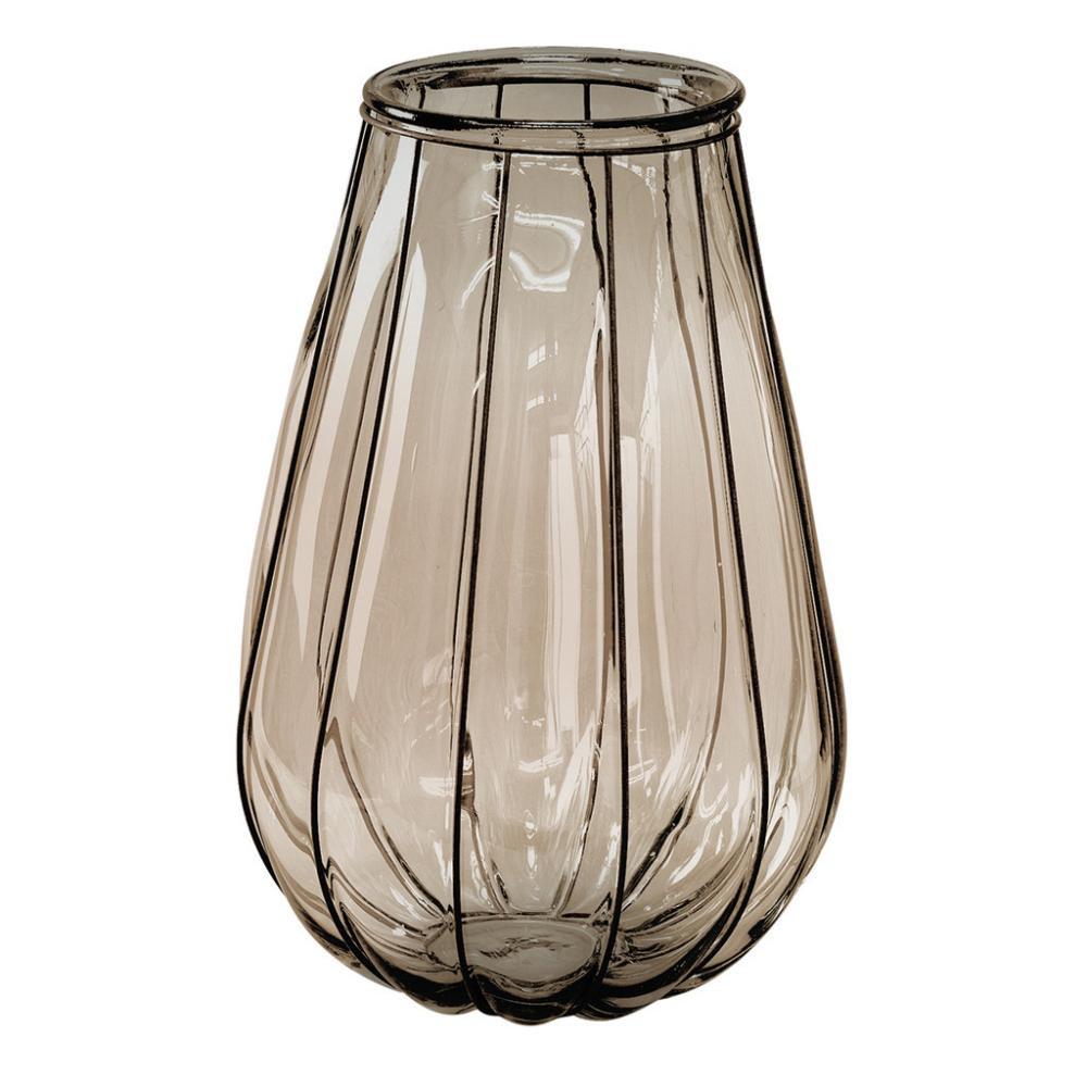 流行 生活 雑貨 VALENCIA リサイクルガラスフラワーベース VEINTITRES ブラウン VGGN1230BR