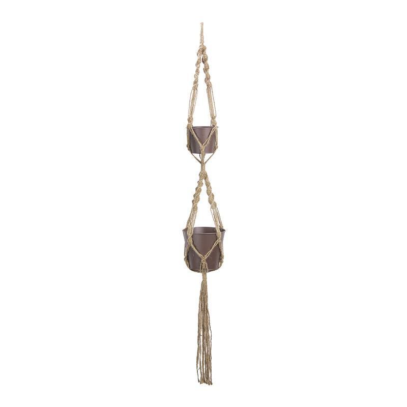 生活 雑貨 通販 ハンギングロープ&ポット 2段 ダ鉢3号・4号用 541-002