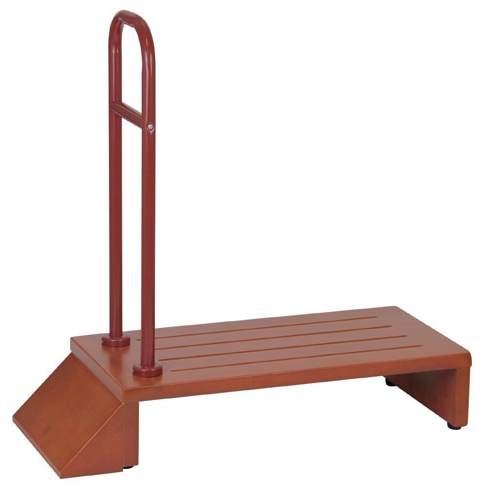 流行 生活 雑貨 幸和製作所 テイコブ(TacaoF) 玄関用ステップ(手すり付き) ブラウン HUE01-BR