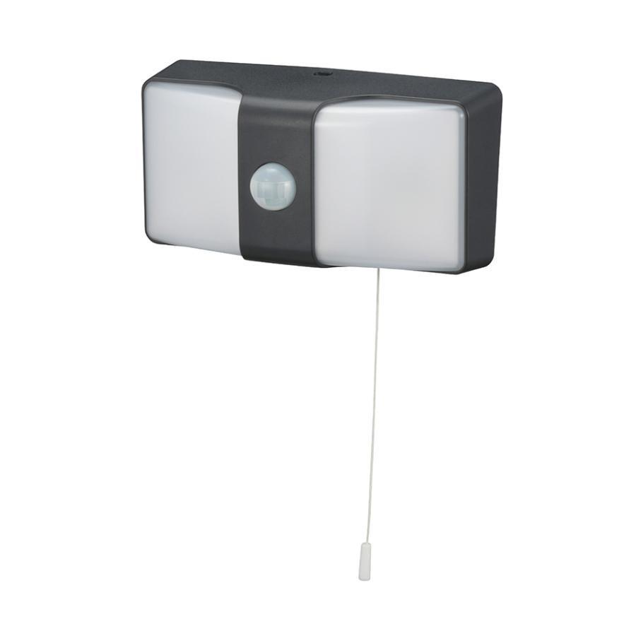 日用品 便利 ユニーク monban LEDセンサーウォールライト コンセント式 ブラック LS-AH26J4-K