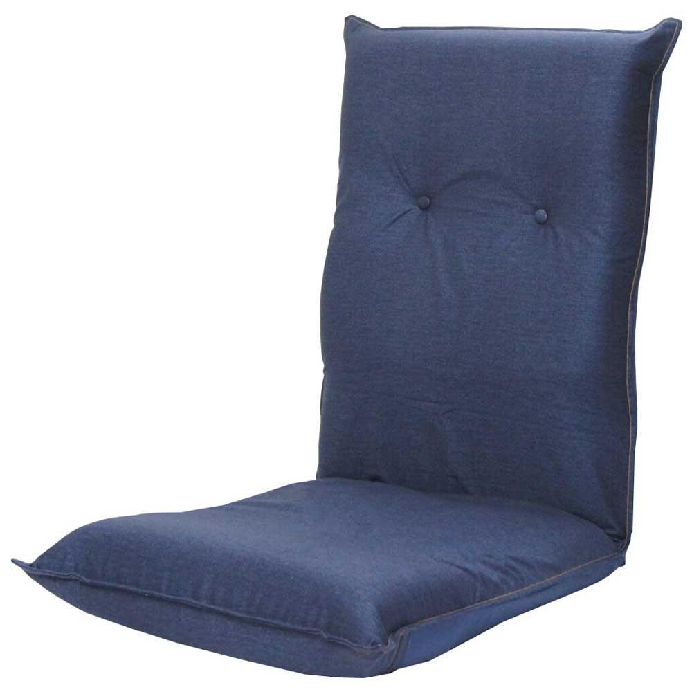 流行 生活 雑貨 ハイバック座椅子 デニムプリント 二つ折り インディゴ