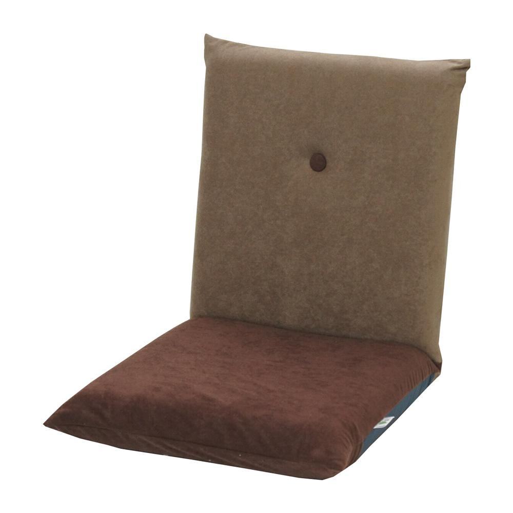 流行 生活 雑貨 コンパクト座椅子 ポシェット アッシュブラウン×ダークブラウン
