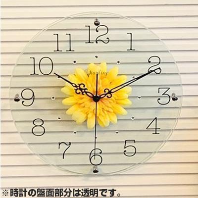 流行 生活 雑貨 アートフラワー 掛け時計 YE SW-1186