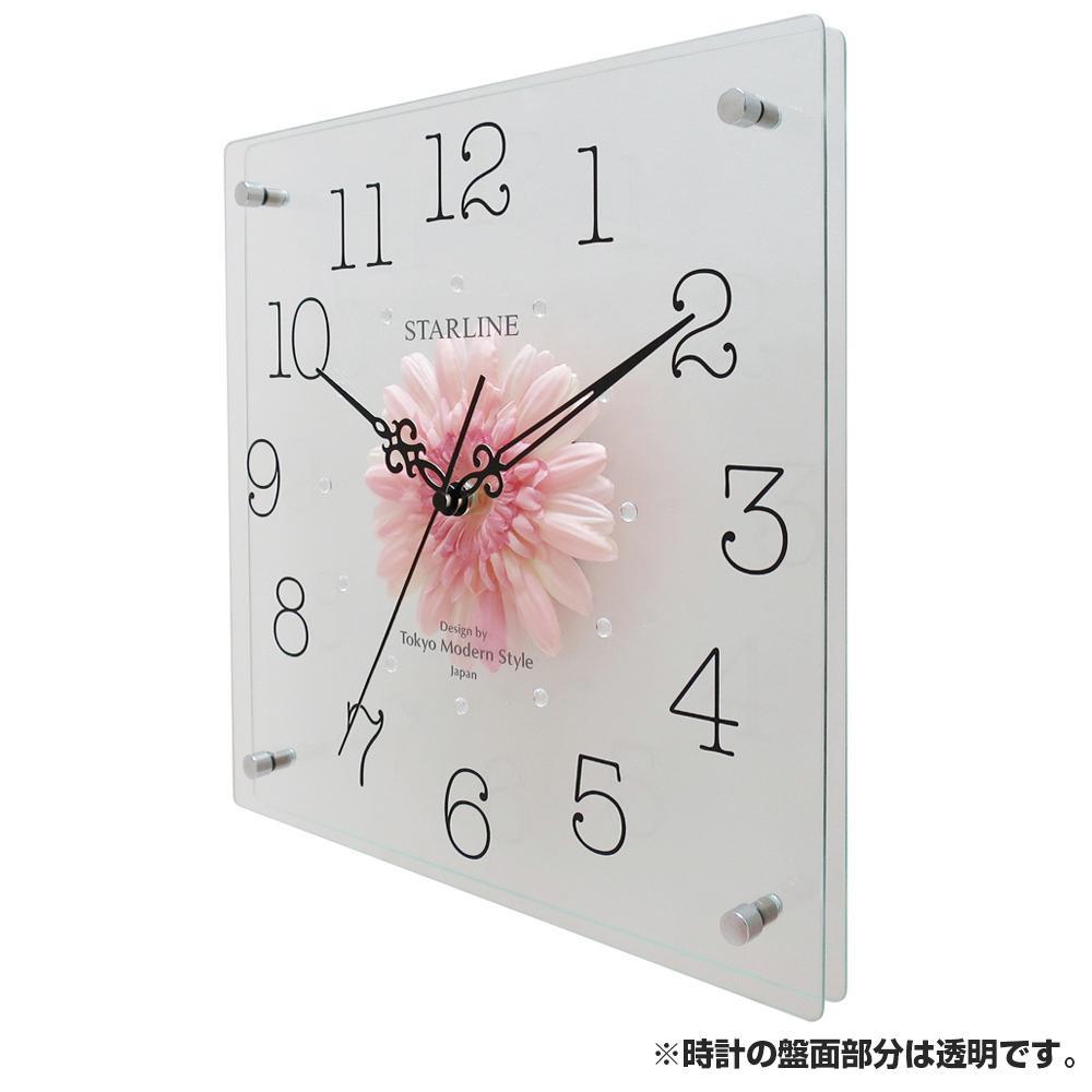 インテリア関連 アートフラワー 掛け時計 PK SW-1198