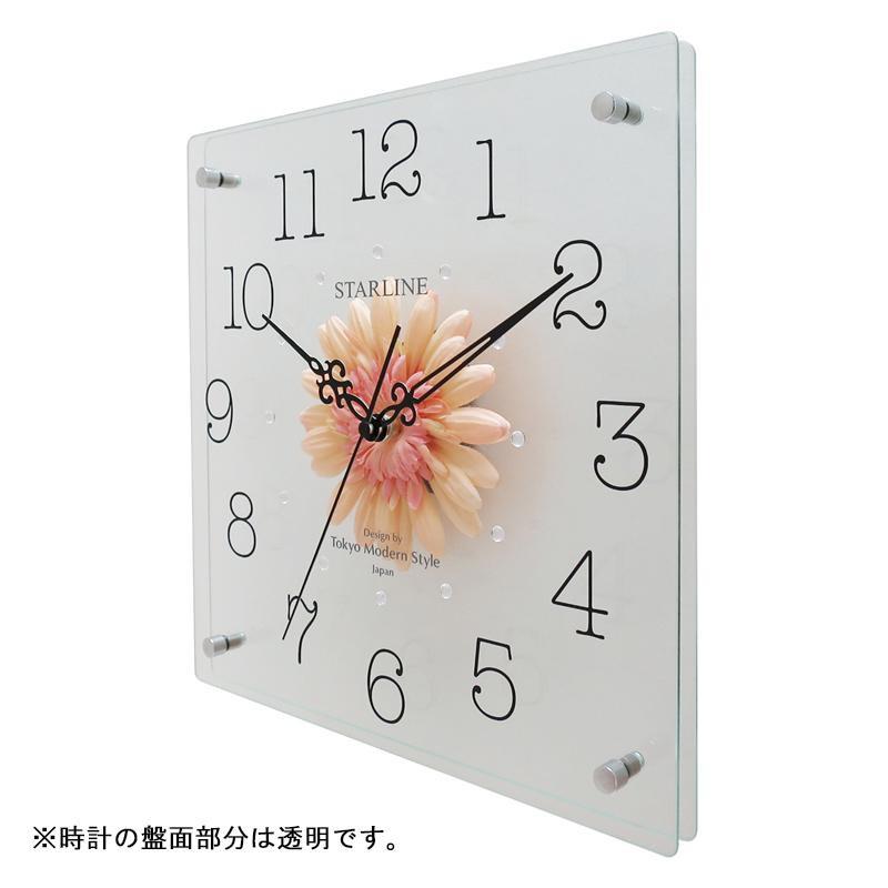 インテリア関連 アートフラワー 掛け時計 PC SW-1198