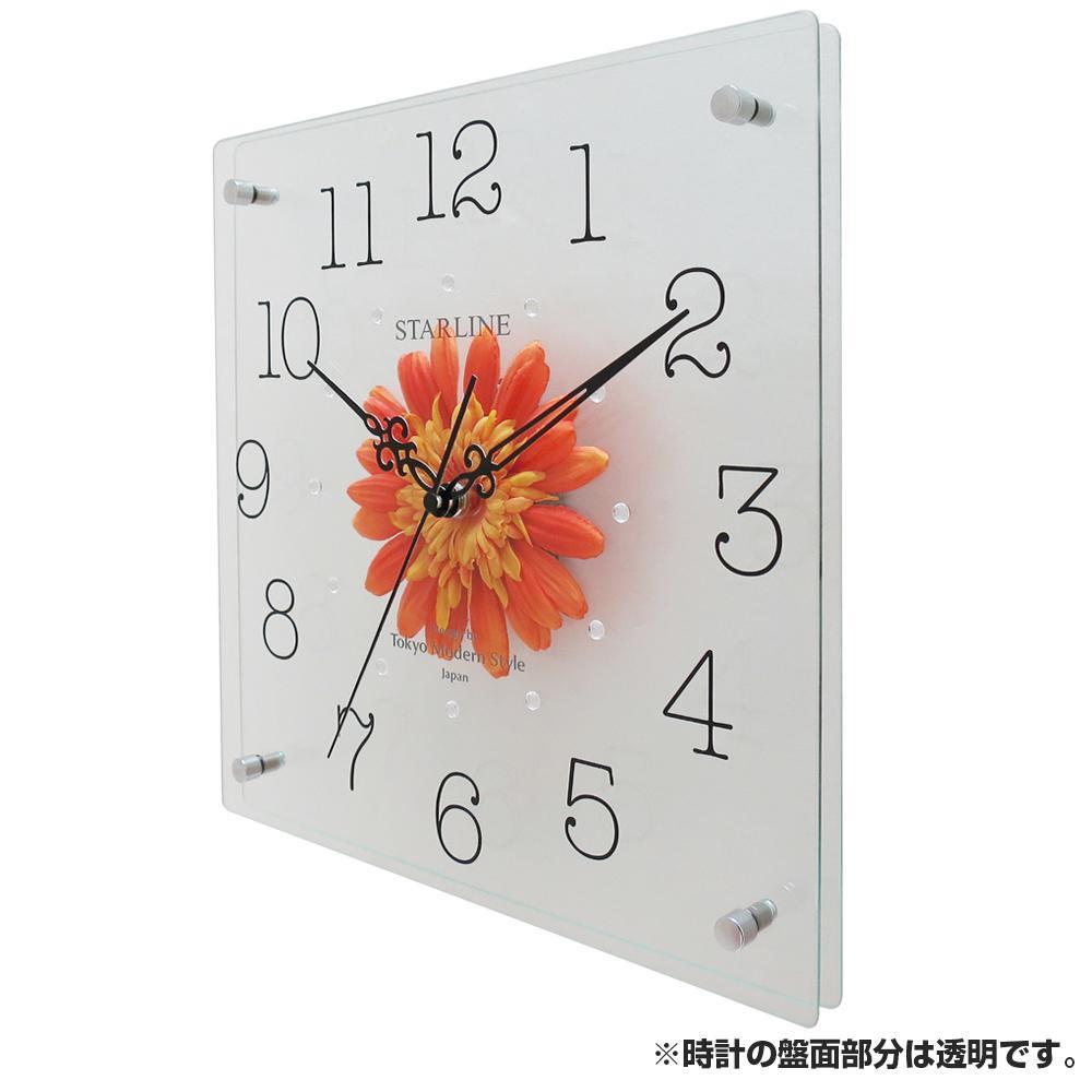 生活 雑貨 通販 アートフラワー 掛け時計 OR SW-1198