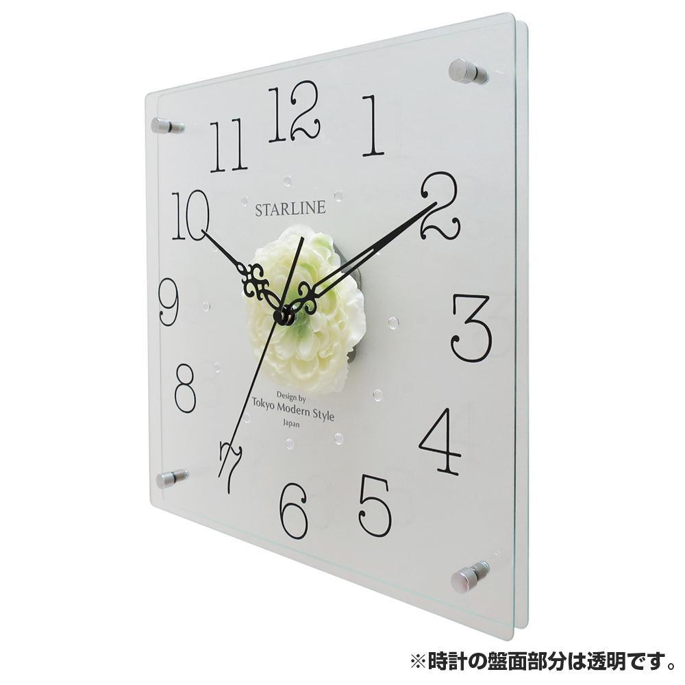 流行 生活 雑貨 アートフラワー 掛け時計 WT SW-1199