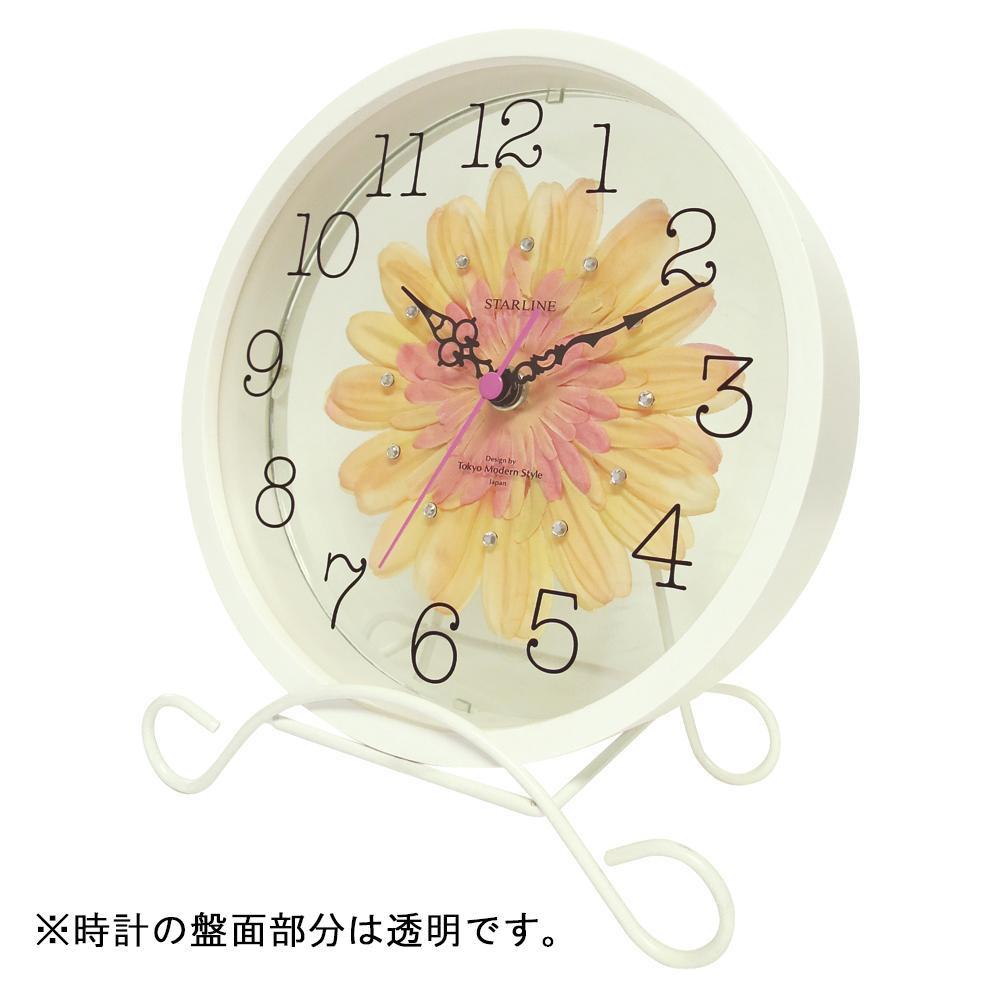 流行 生活 雑貨 アートフラワー 置き時計 PC STW-1203