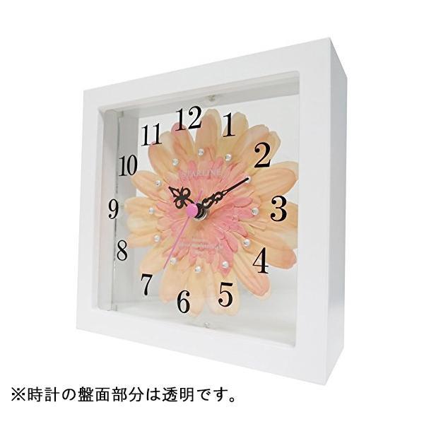 流行 生活 雑貨 アートフラワー 置き時計 PC STW-1189