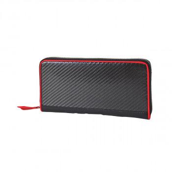 リアルカーボン 長財布 レッド 8430お得 な全国一律 送料無料 日用品 便利 ユニーク