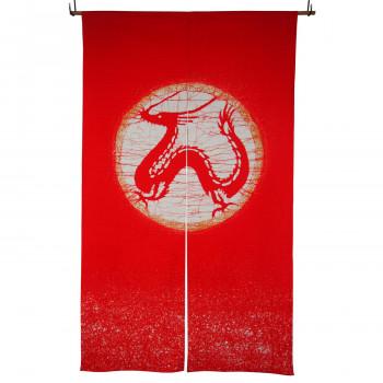 綿のれん 龍 M-839 朱赤 約巾85×丈150cm人気 お得な送料無料 おすすめ 流行 生活 雑貨