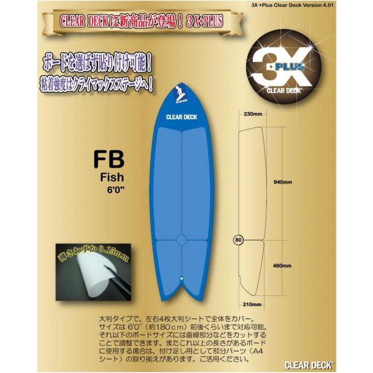 便利雑貨 3X+PLUS クリアデッキ FB レトロフィッシュ用テール含む(大判など5枚入り)