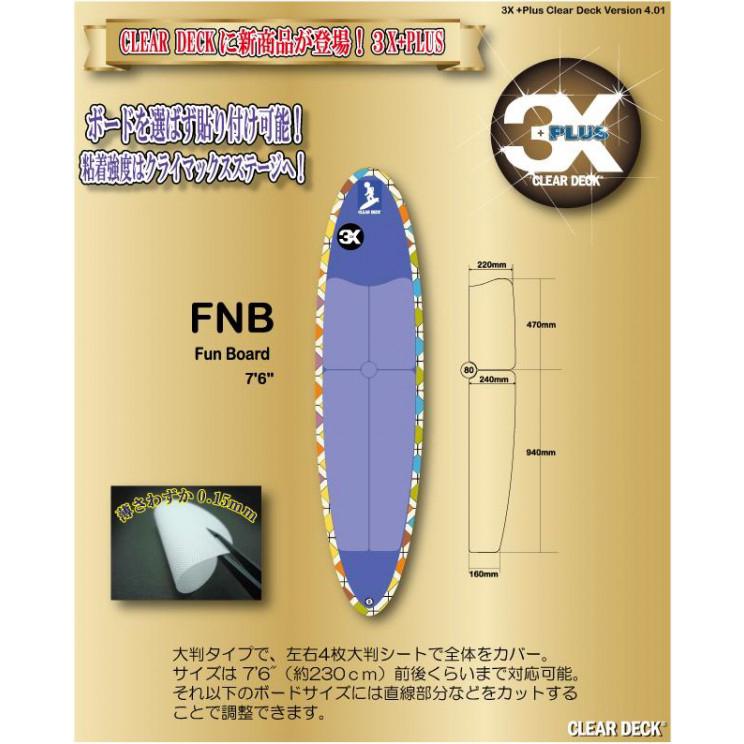 便利雑貨 3X+PLUS クリアデッキ FNB ファンボード用テールデッキ含まず(大判など5枚入り)