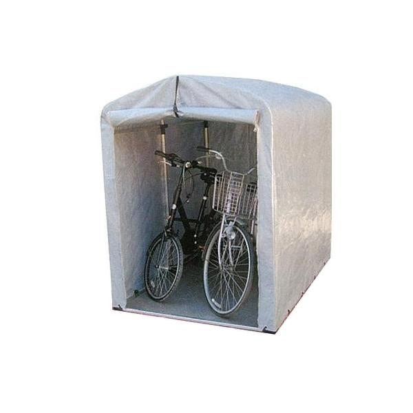 便利雑貨 簡単組立! アルミフレーム サイクルハウス 標準シートタイプ/ミドルタイプ 2.5S-SV