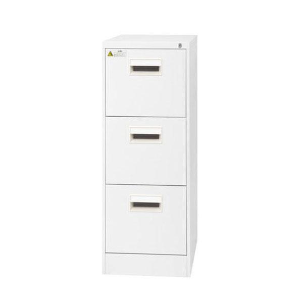 家具/収納 SEIKO FAMILY(生興) A4サイズ3段 ファイリングキャビネット A4-3CW(17183)