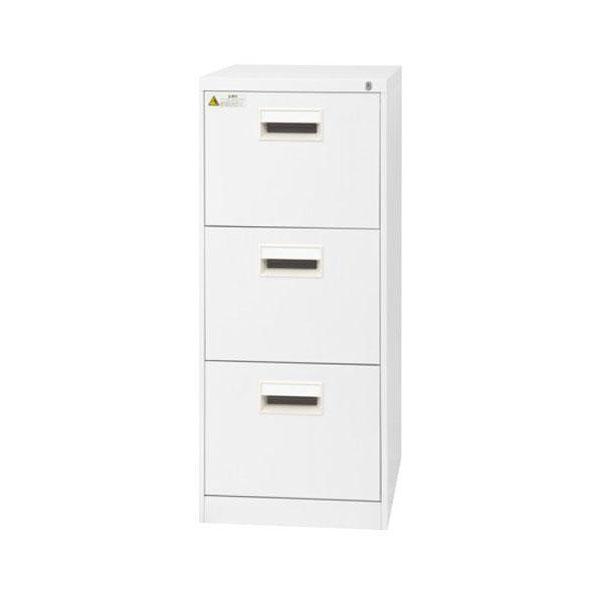 家具/収納 SEIKO FAMILY(生興) B4サイズ3段 ファイリングキャビネット B4-3CW(17188)