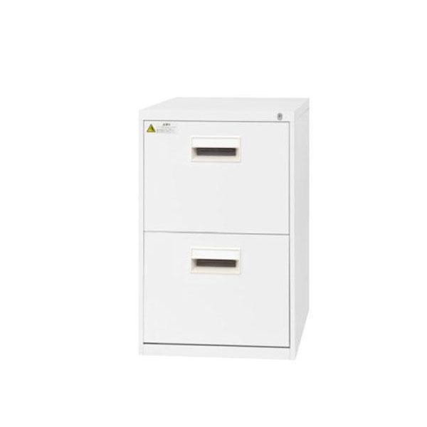 家具/収納 SEIKO FAMILY(生興) B4サイズ2段デスクサイド(D700) ファイリングキャビネット B4-2N7CW(17191)