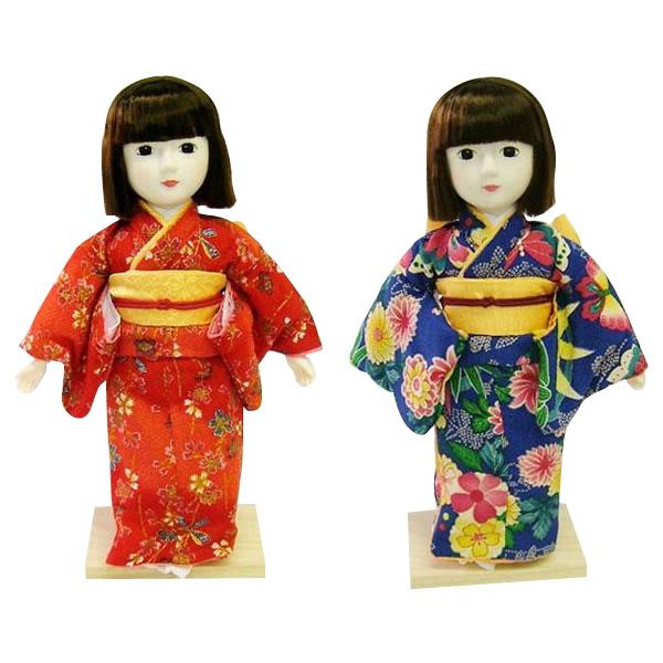 トレンド 雑貨 おしゃれ 着付けが学べる日本人形 夢さくら 赤・56111