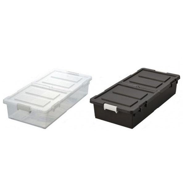 収納用品 ベッド下収納ケース 4個組 ブラウン・J-330364-4