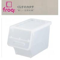 便利雑貨 froq フロック 収納ケース スリム30 クリア 8個組 fr-S30CL