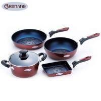 便利雑貨 BRONANO(ブラナーノ) IH対応 鍋&フライパン 4点セット BM-9531