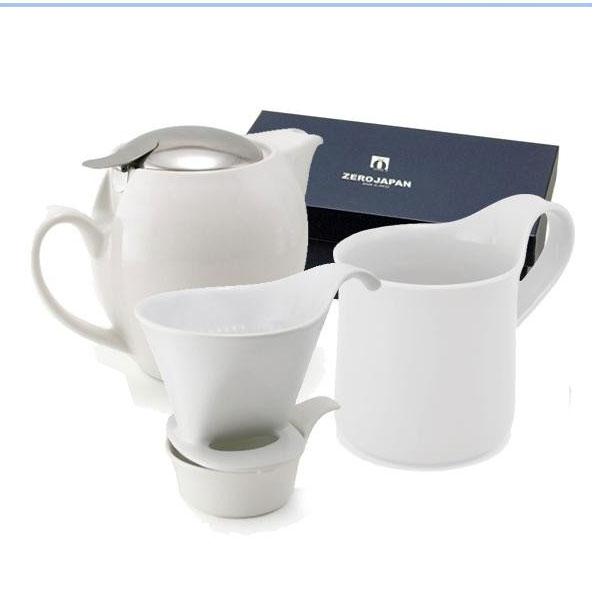 便利雑貨 ZEROJAPAN(ゼロジャパン) コーヒードリッパー+ポット+マグカップセット ホワイト ZG-010