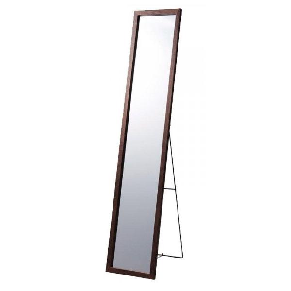 便利雑貨 パール金属 スタンドミラーII W30 突板木目ブラウン N-8277