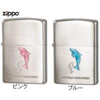 日用品 便利 ユニーク ZIPPO(ジッポー) ライター ラバーズ・ドルフィン(Lovers Dolphin) ブルー・63400298