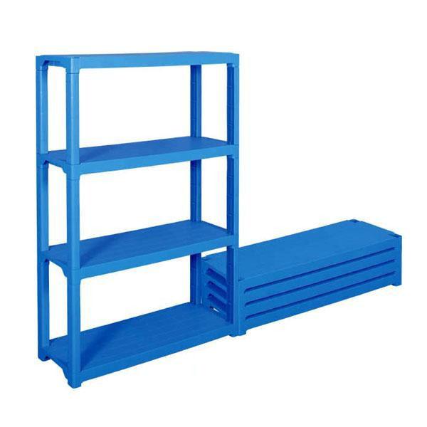 便利雑貨 三甲 サンコー プラスチック棚L-2 805588-01・ブルー