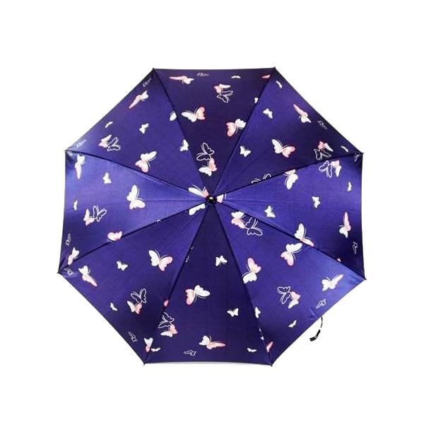便利雑貨 日本の職人手作り 蝶二段式折りたたみ傘 紺(ネイビー) CMM102A