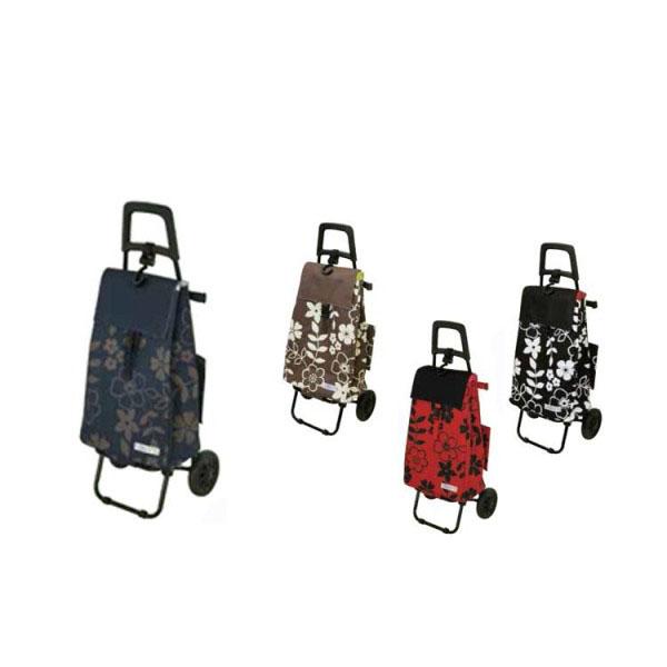 便利雑貨 ショッピングカートセット フラワー BLACK(ブラック)・424414