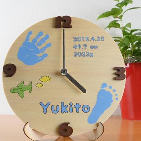 便利雑貨 ベビーメモリアル・出産祝い 木製メモリアルタイム 手足型 お仕立券タイプ
