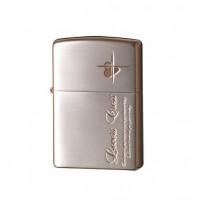 便利雑貨 ZIPPO(ジッポー) ライター ラバーズ・クロス メッセージSIDE 銀サテーナ&ピンクゴールド 63050298