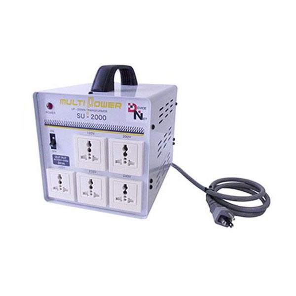 便利雑貨 (世界対応) 大容量マルチ変圧器 マルチトランス(SU-2000-DN)