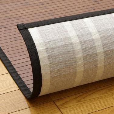 お役立ちグッズ 竹カーペット 約140×200cm BK・ブラック・5305590