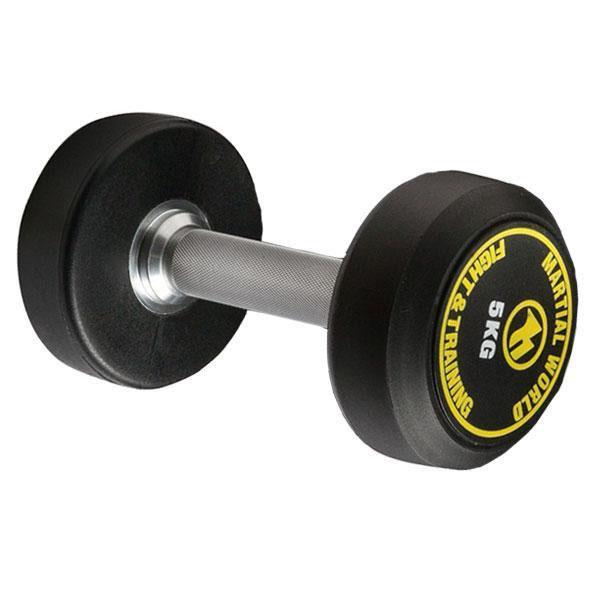 便利雑貨 ポリウレタン固定式ダンベル 5kg UD5000