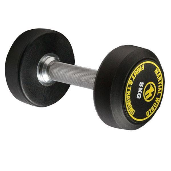便利雑貨 ポリウレタン固定式ダンベル 25kg UD25000