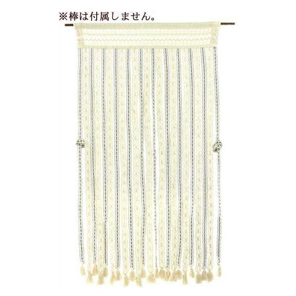 □生活関連グッズ □ヒョウトク ナチュラルのれん タッセル付 ロング丈 W85×H170cm ナチュラルグリーン No.2080