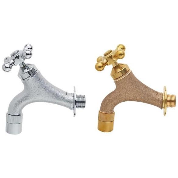 トレンド 雑貨 おしゃれ ガーデン水栓 クロスハンドル ガーデニング/庭/水まわり ゴールド・Y1810YB-13