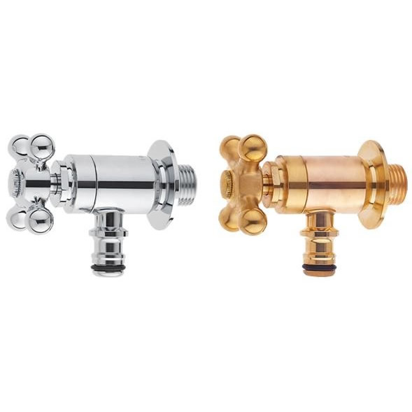 日用品 便利 ユニーク ガーデン水栓 クロスハンドル 逆止弁付 ガーデニング/庭/水まわり ゴールド・Y1812YB-13
