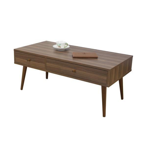 家具 イス テーブル 引出し付きリビングテーブル LT-800 WH・ホワイト