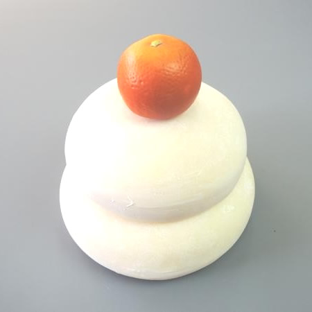便利雑貨 日本職人が作る 食品サンプル 鏡餅 1升5合 IP-174