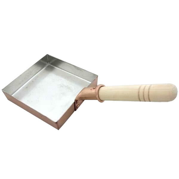 家事用品 銅製 卵焼き鍋 角型 15cm