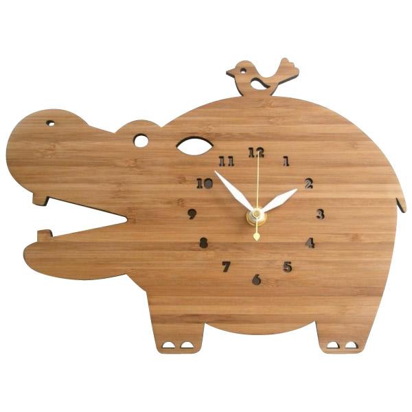 お役立ちグッズ Made in America DECOYLAB(デコイラボ) 掛け時計 HIPPO かば