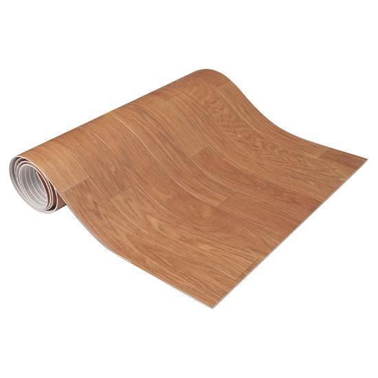 生活関連グッズ キッチン快適♪吸着クッションフロアマット ウッド・KH-12 60×180cm