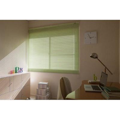 目隠し 光の調節が出来る暮らしをはじめませんか? 暮らし 便利 アルミブラインド規格品 ブラインダー 巾100×高さ100cm グリーン