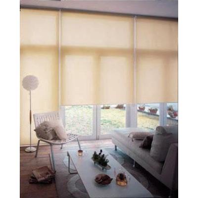 仕切り 間仕切り 窓だけでなくお部屋の間仕切りやちょっとした目隠しにも。 暮らし 便利 窓 目隠し・日除け 間仕切り ロールスクリーン 無地 防炎規格品 巾125×高さ210cm ココ
