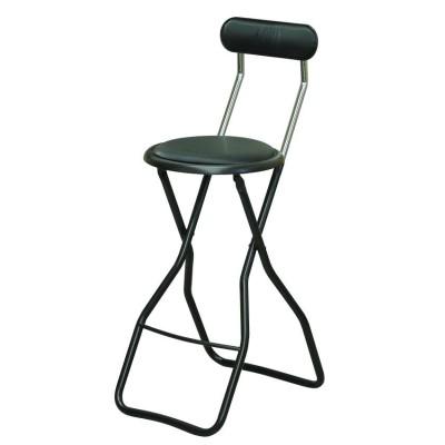 イス キャプテンオリジナル!スライド式折り畳み! 暮らし 便利 折りたたみ椅子 4脚セット ラインブラック