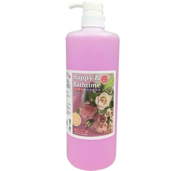 ハッピー&バスタイム ペット用入浴液 1L バラの香り