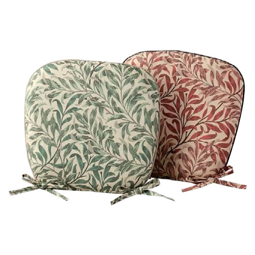 お役立ちグッズ 川島織物セルコン モリスデザインスタジオ ウィローボウ 機能中材入りダイニングシートクッション 46×44Vcm LN1717 ピンク